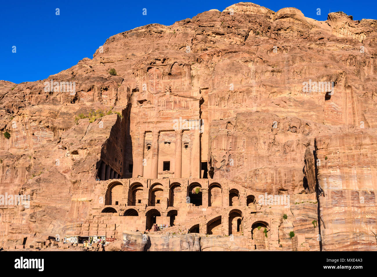 Royal Tombs in the Lost City of Petra, Jordan Stock Photo