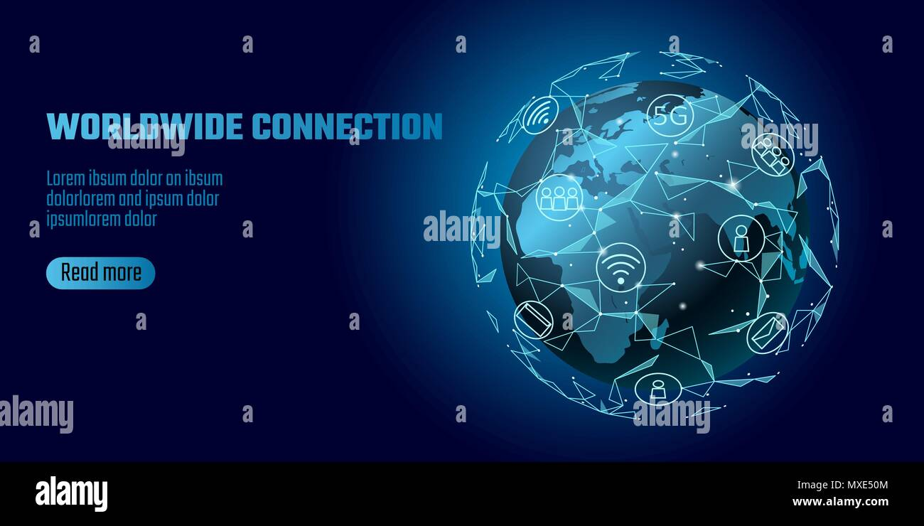Global network connection world map europe africa continent point global network connection world map europe africa continent point line worldwide information technology dat exchange business planet earth space low poly gumiabroncs Images