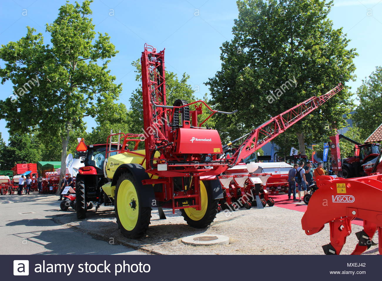 chemical boom sprayers stock photos \u0026 chemical boom sprayers stocknovi sad, serbia, 20 05 2018 fair, new machine kverneland trailed sprayer,