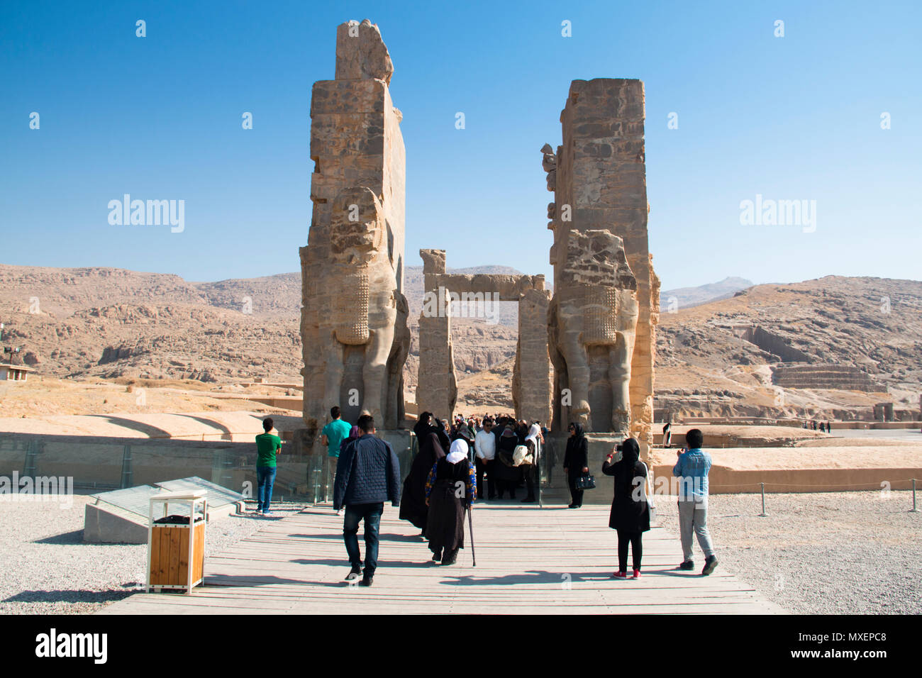 Persepolis Iran November 2017 Gate Of All Nations At The Ancient City Persepolis Was Once The Capital Of The Achaemenid Empire And Is Now Unesco H Stock Photo Alamy