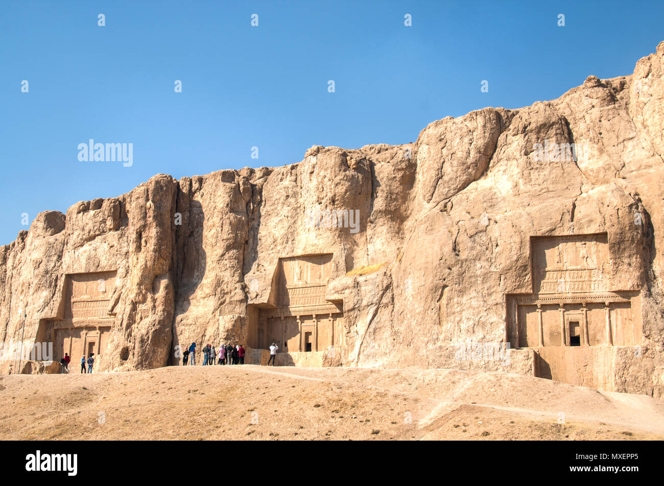 PERSEPOLIS, IRAN - NOVEMBER 2017: The Ancient city Persepolis was once the capital of the Achaemenid empire and is now UNESCO heritage. The site can b Stock Photo