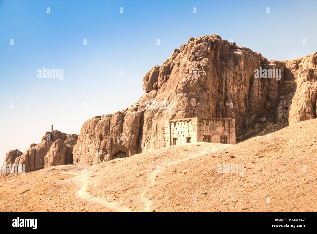 The Ancient city Persepolis was once the capital of the Achaemenid empire and is now UNESCO heritage. The site can be found near Shiraz in Iran - Stock Image