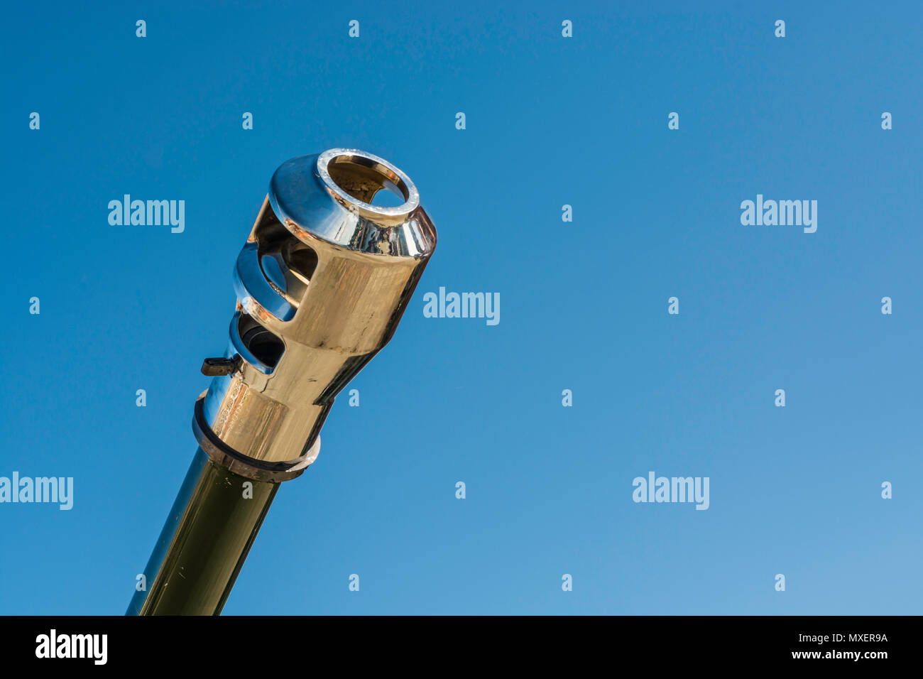 This is the end of the barrel of a L118 Light Gun as used by the British Army. - Stock Image