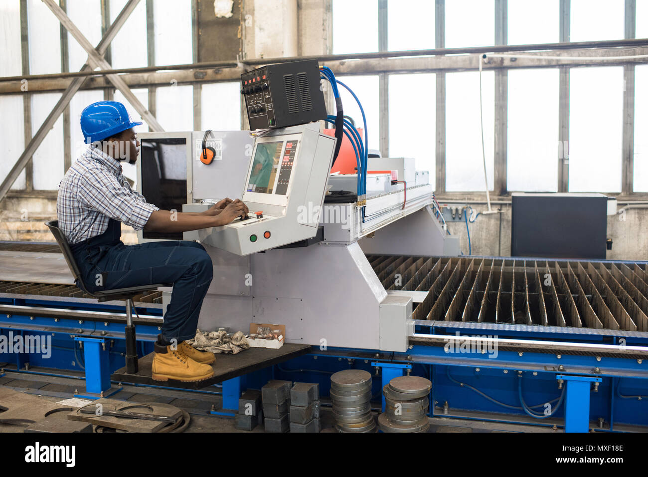 Operating Machine Unit - Stock Image