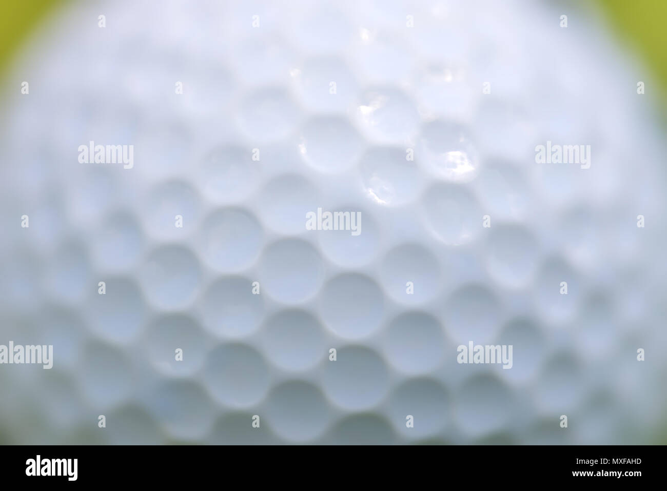 Close up golf ball texture background - Stock Image