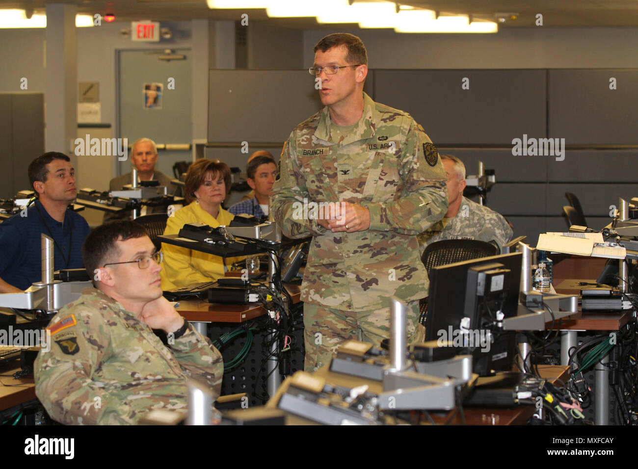Col John David Branch Commander Of The 780th Military Intelligence Mi Brigade Talks To Educators From The Southwestern United States And Soldiers From The U S Army 5th Recruiting Brigade Fort Sam Houston