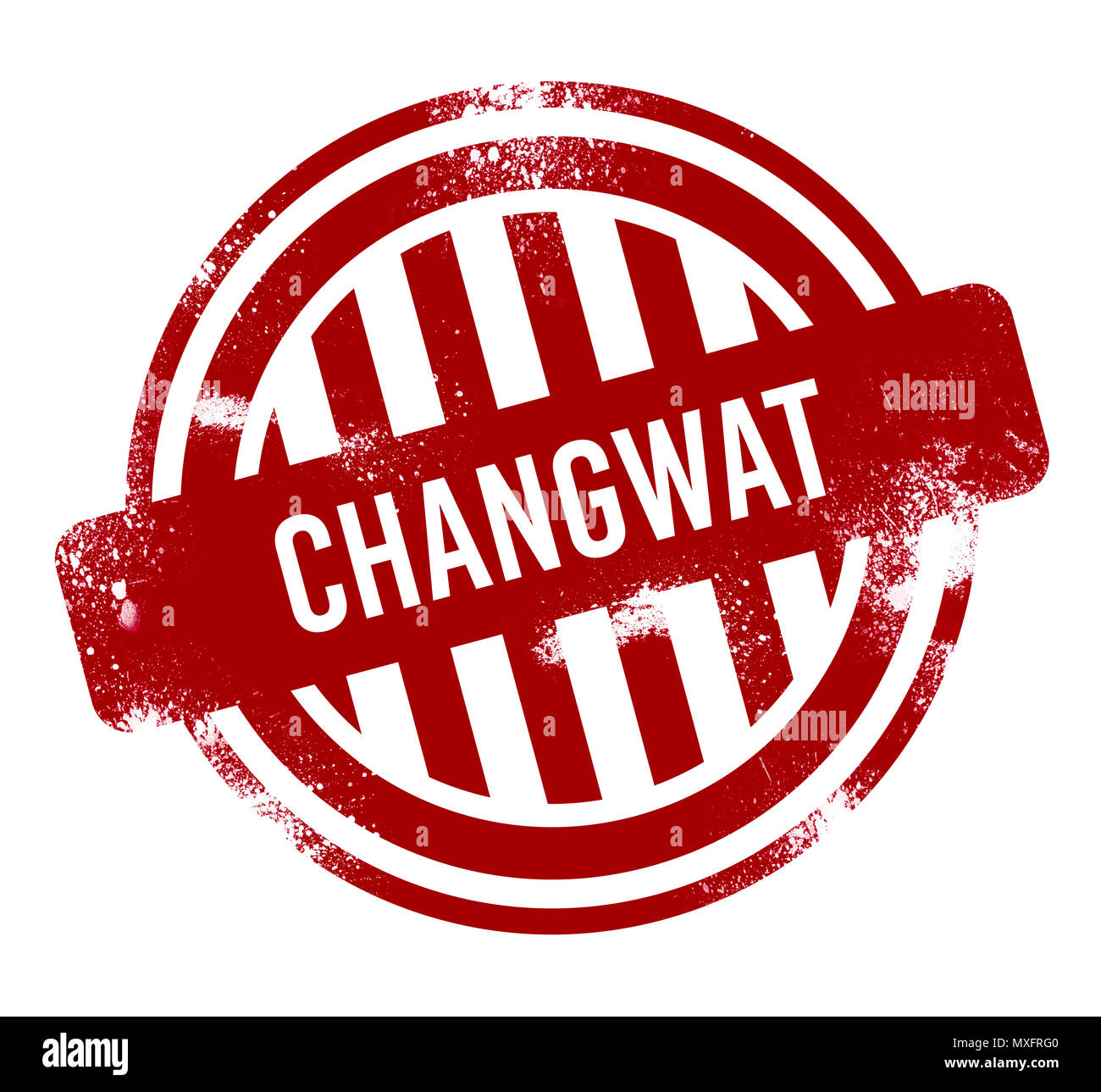 Changwat Chachoengsao - Red grunge button, stamp - Stock Image