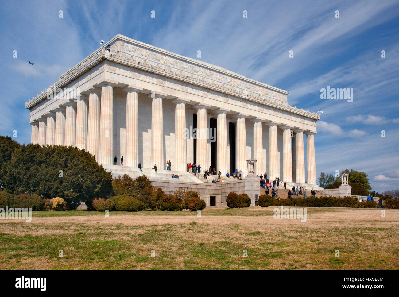 Lincoln Memorial in Washington DC - Stock Image