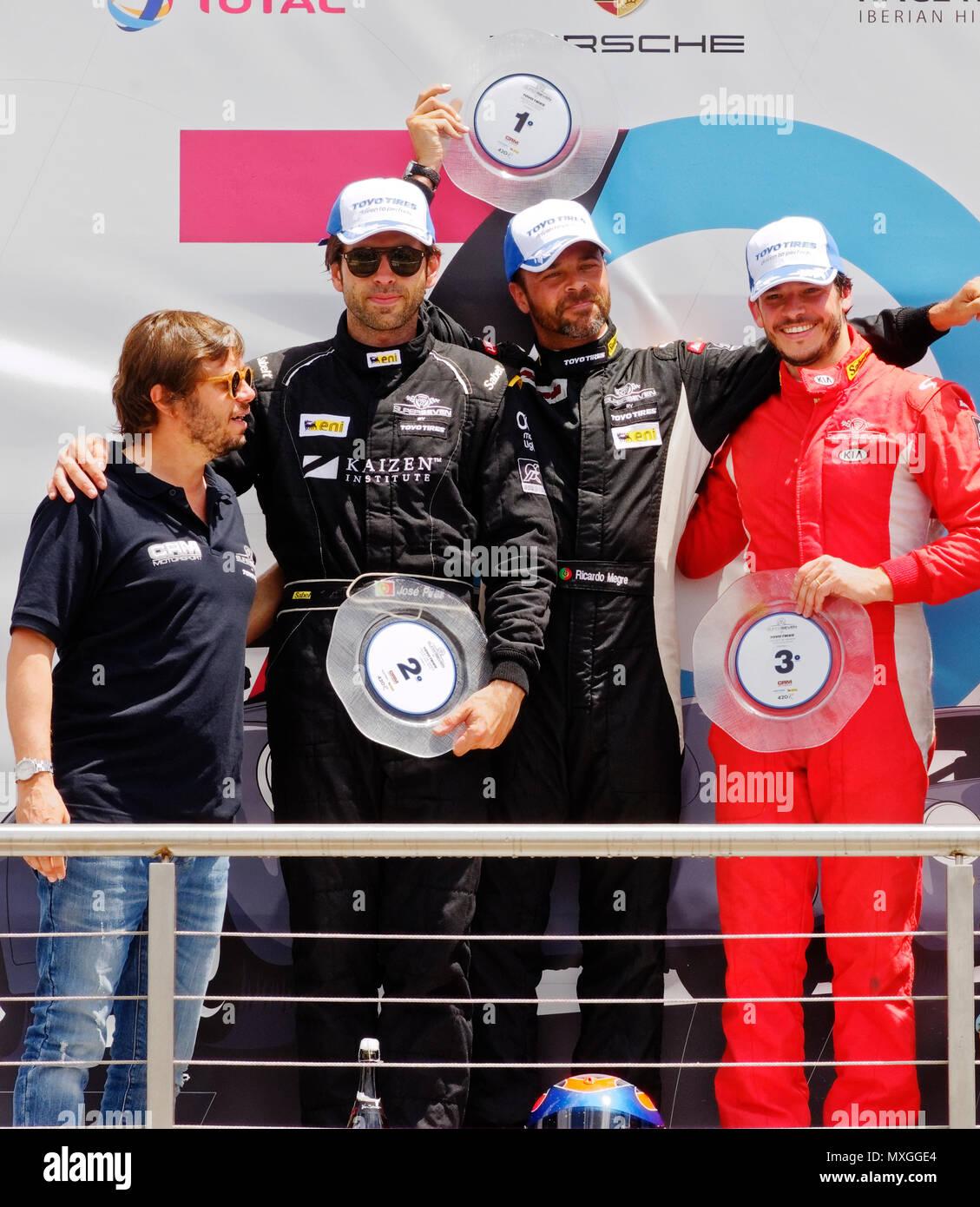Circuito Kia 2018 : Madrid spain june podium in the race circuit of