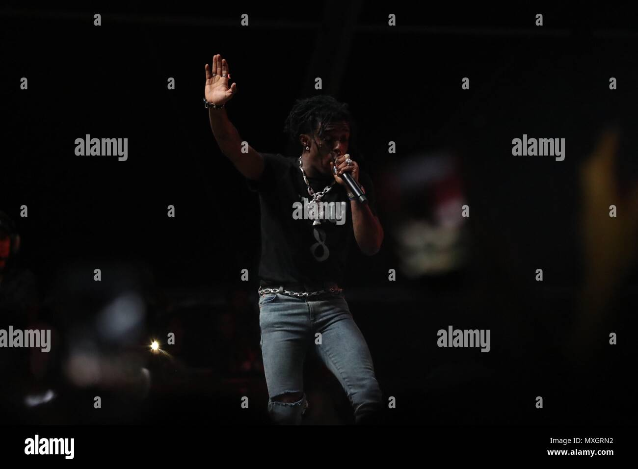 New York, NY, USA  3rd June, 2018  Lil Uzi Vert on stage for