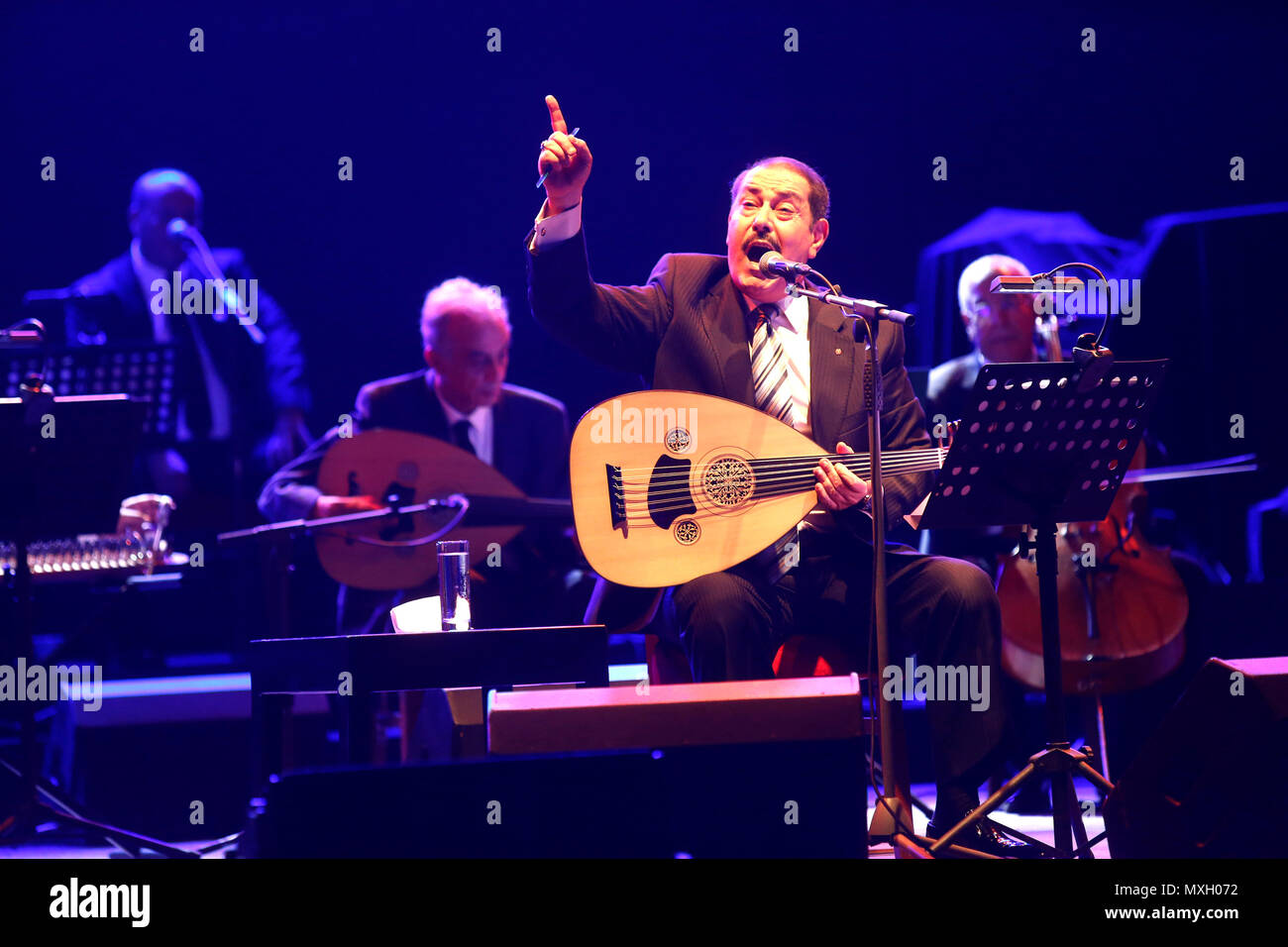 Beirut, Lebanon  4th June, 2018  Tunisian singer Lutfi