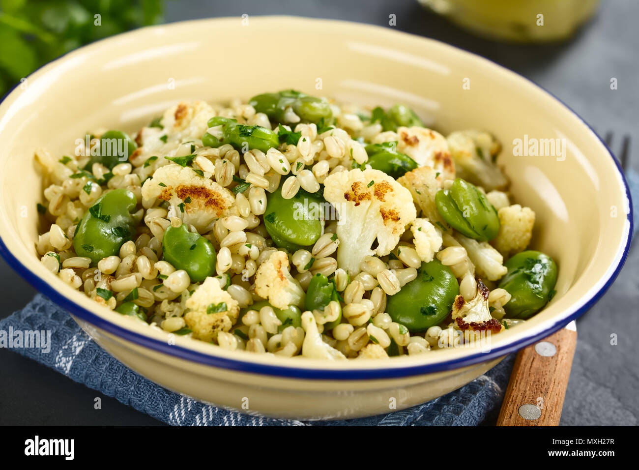 Watch Barley Salad with Chickpeas, Fava Beans Peas video
