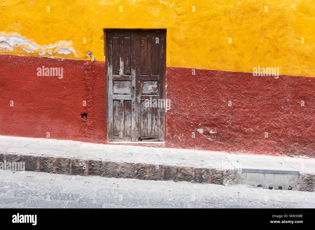 The hills of the city center of San Miguel de Allende - Stock Image