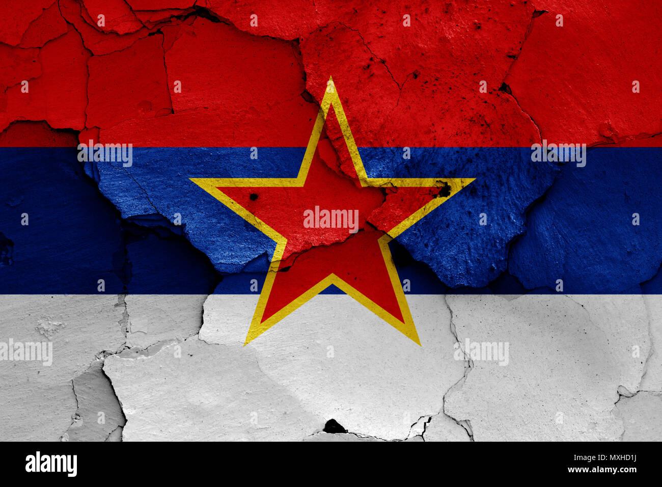 flag of Socialist Republic of Montenegro Stock Photo