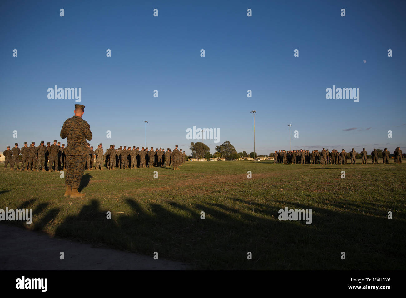 U S  Marine Corps Colonel Daniel Greenwood, commanding