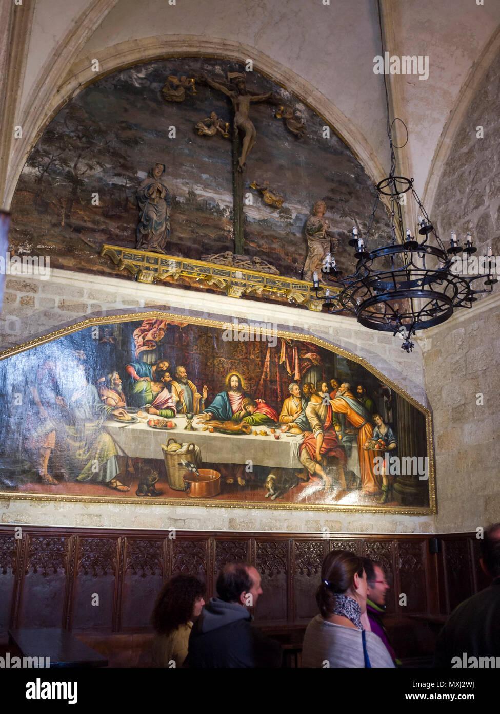 Monasterio de Santa María del Paular. Pueblo de Rascafría. Sierra de Guadarrama. Madrid. España Stock Photo