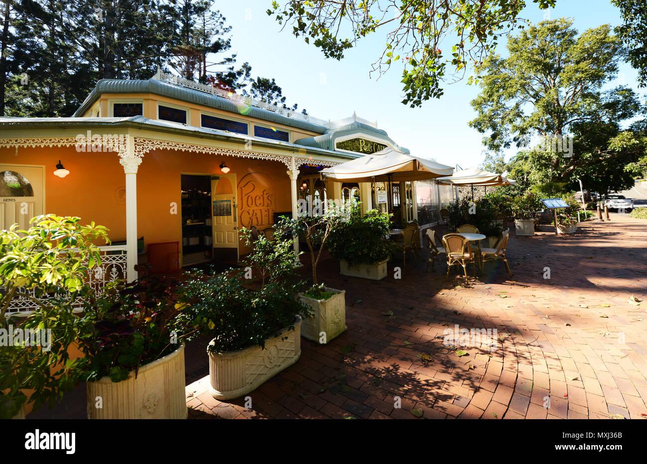 Poet's cafe in Montville, Queensland. - Stock Image
