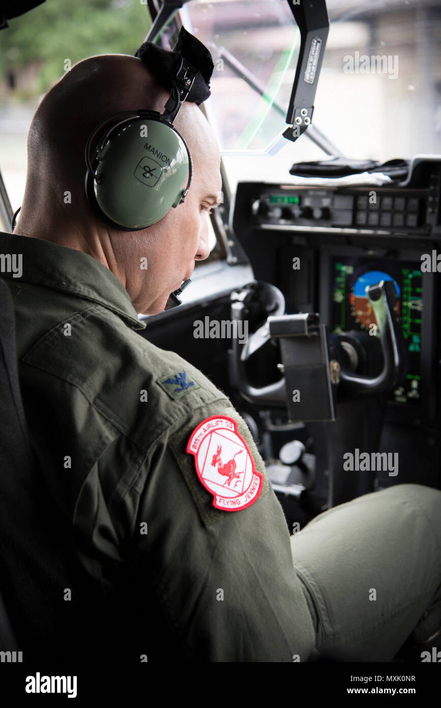 Col  Michael Manion, 403rd Wing Commander checks the