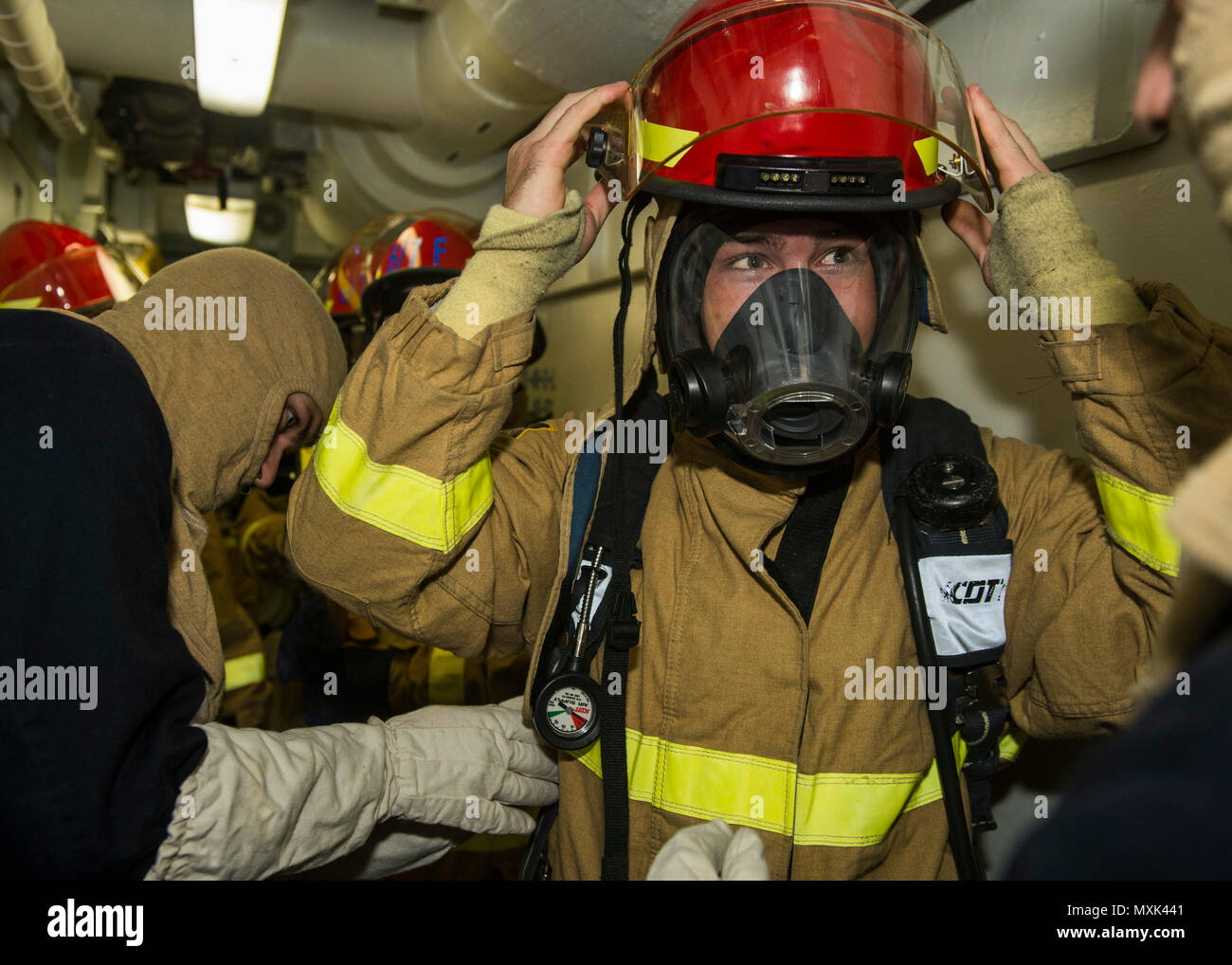 Firefighter and petty officer