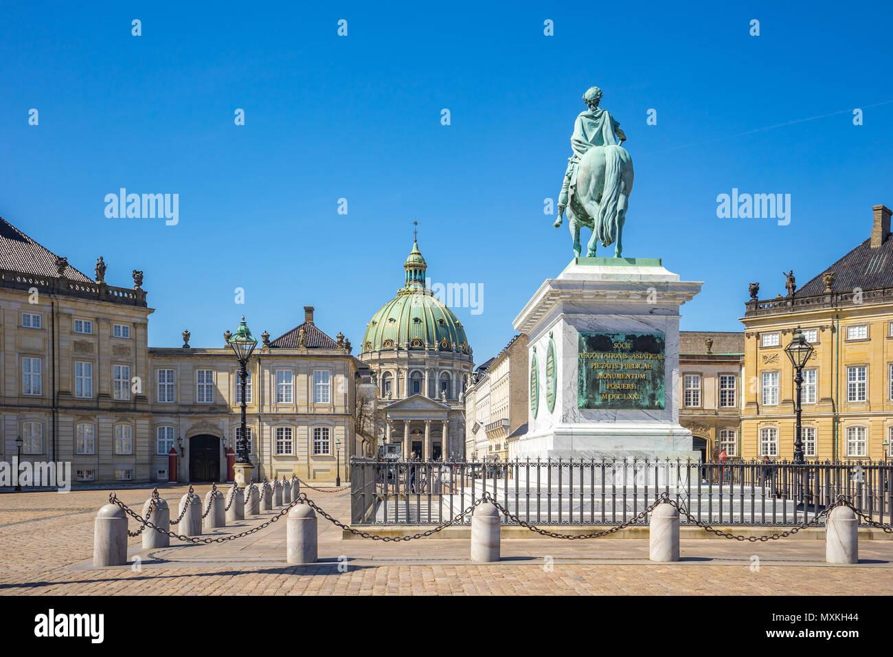 Amalienborg Palace in Copenhagen city, Denmark. Stock Photo