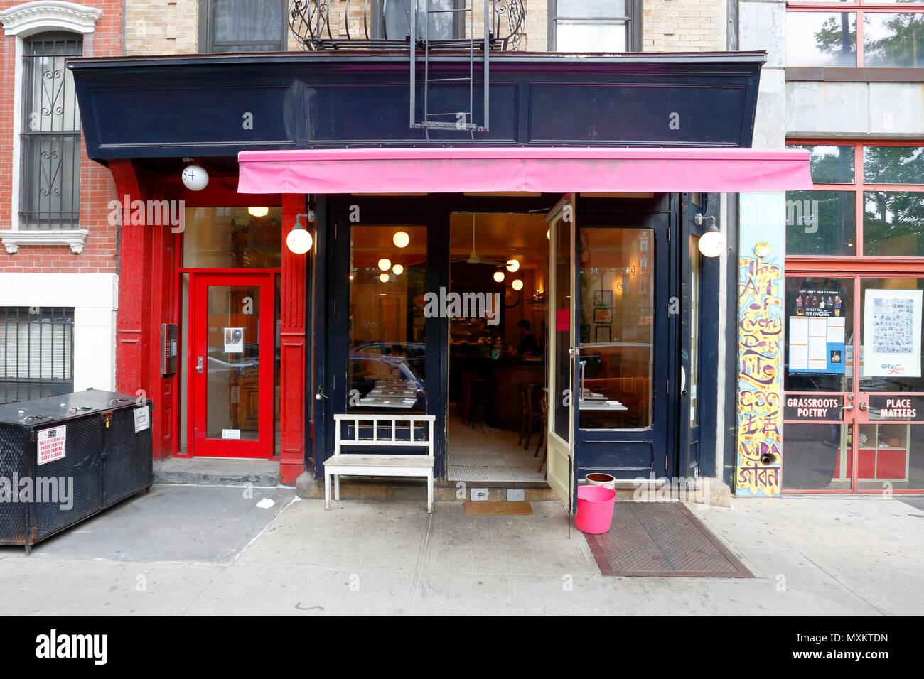 Prune, 54 E 1st St, New York, NY - Stock Image