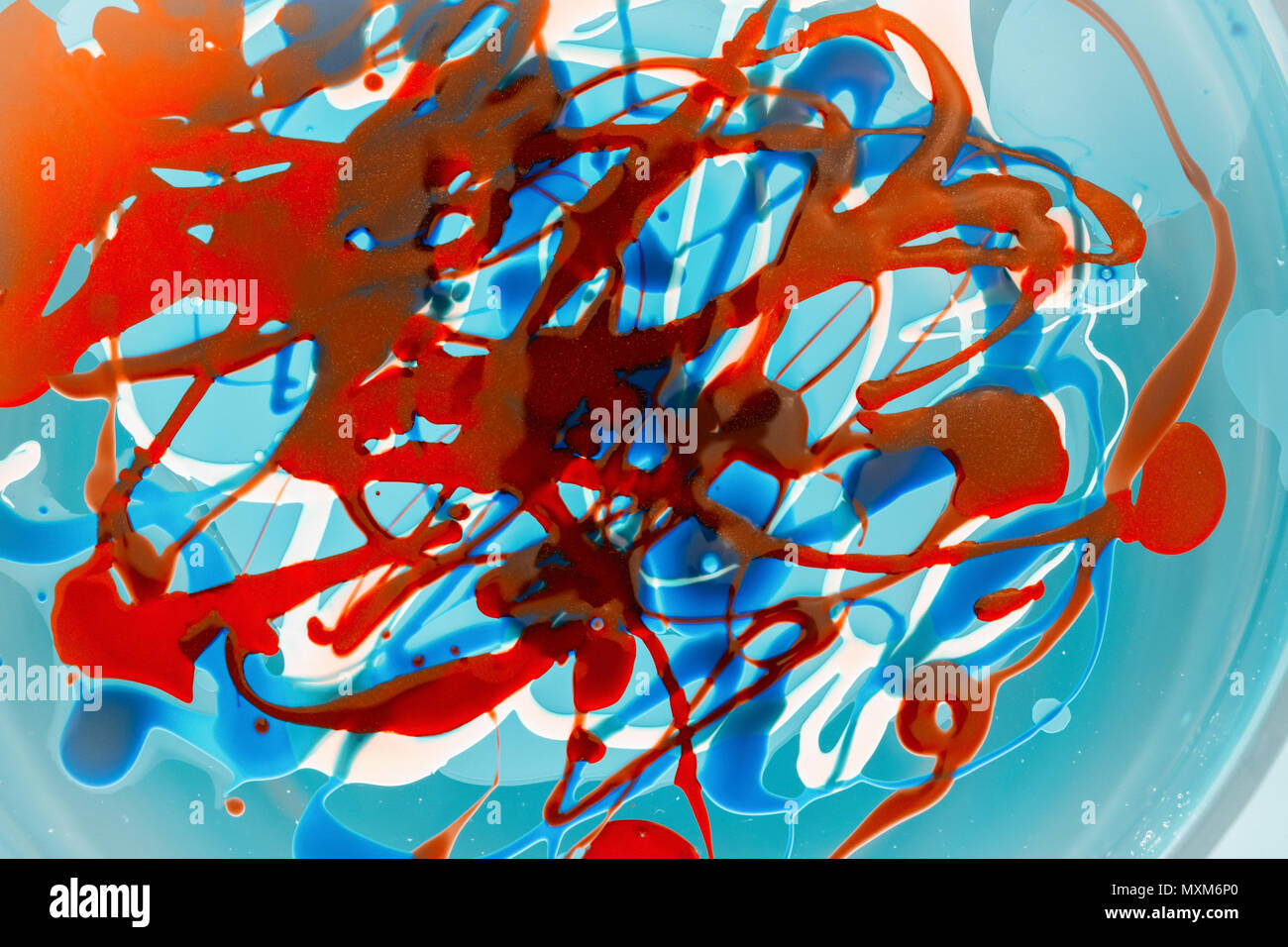 Fantasy Abstract Background Of A Mix Color Paints Concept Of