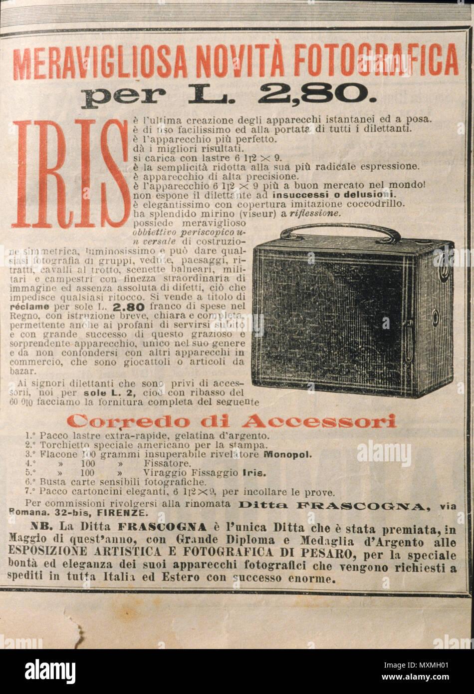 iris, photographic equipment, advertising - Stock Image