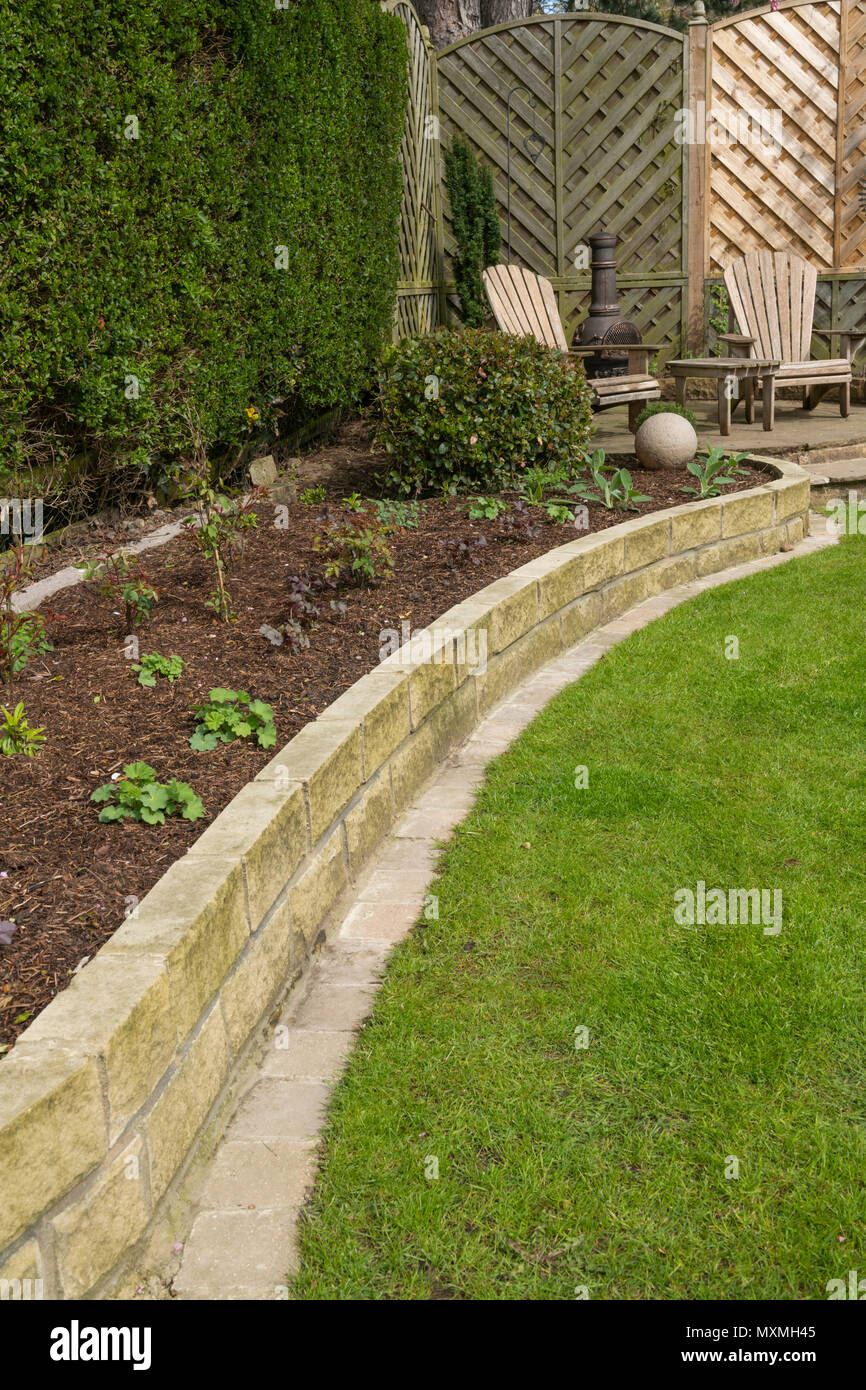 Corner Of Beautiful Landscaped Private Garden With Contemporary