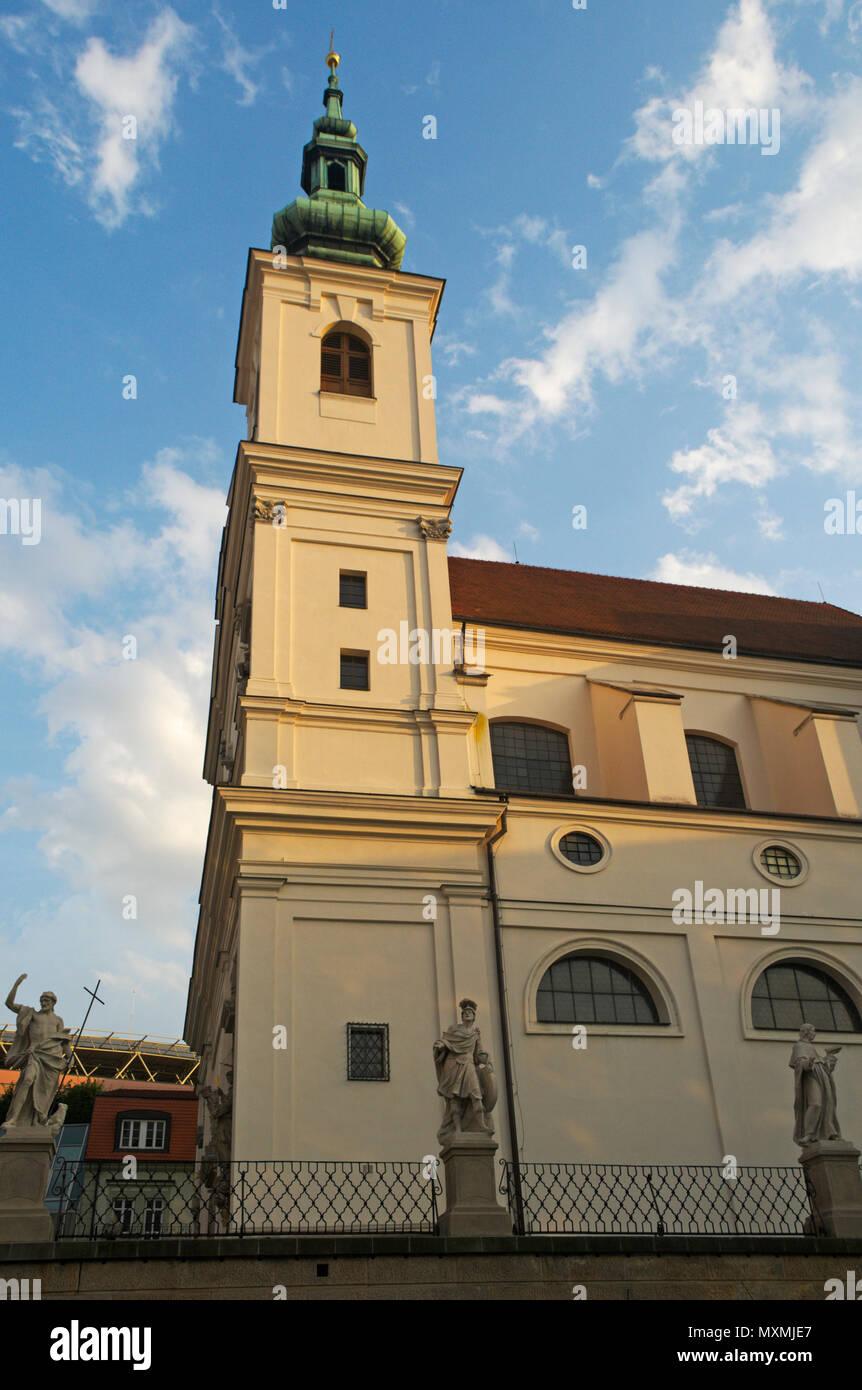 Dominican Church of Saint Michael in Brno town, Czech Republic Stock Photo