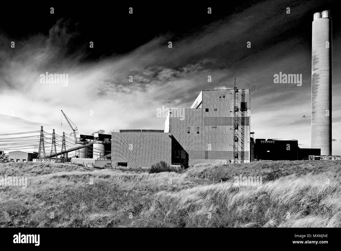 Lynemouth Coal Fired Power Station near Blyth - Stock Image