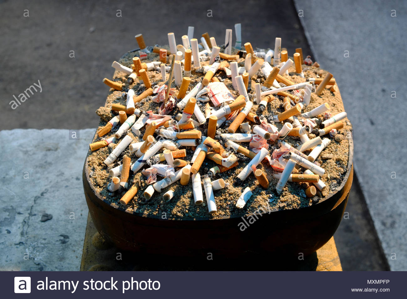 ashtray with sand stock photos ashtray with sand stock. Black Bedroom Furniture Sets. Home Design Ideas