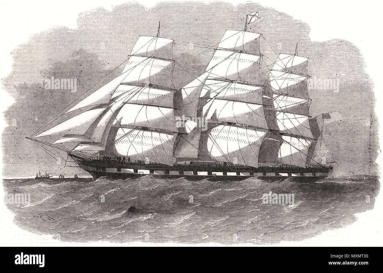 The new ship ' City of Mobile '. Ships 1856. The Illustrated London News - Stock Image