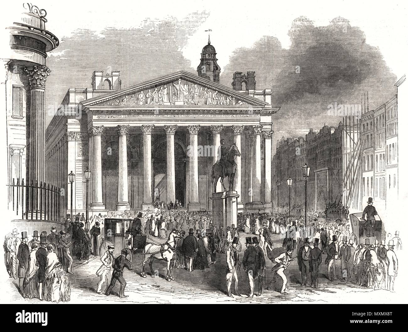 Proclamation of war against Russia, at the Royal Exchange. London 1854. The Illustrated London News - Stock Image