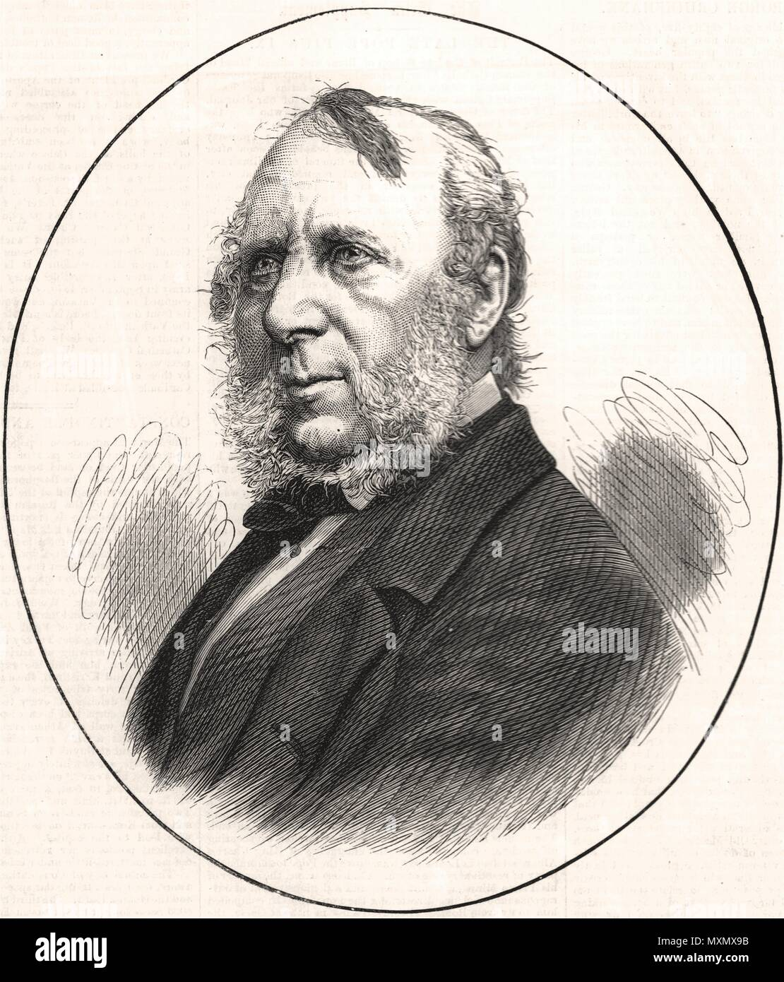 The late Mr. George Cruikshank. Portraits 1878. The Illustrated London News - Stock Image