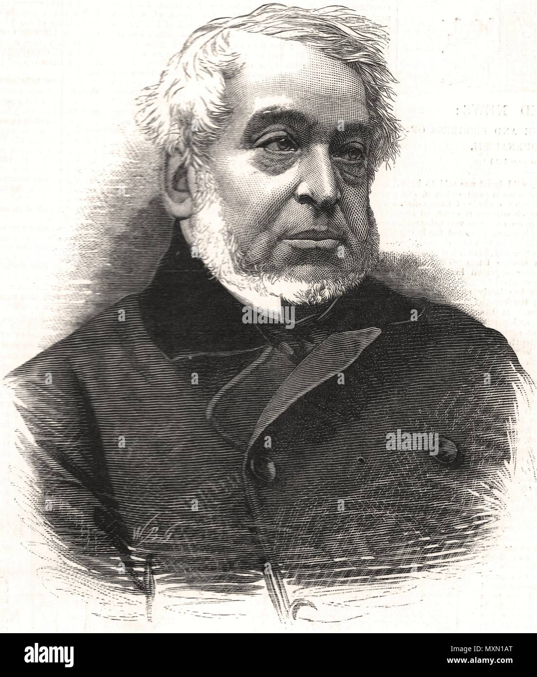 The late Baron Lionel Rothschild. Portraits 1879. The Illustrated London News - Stock Image