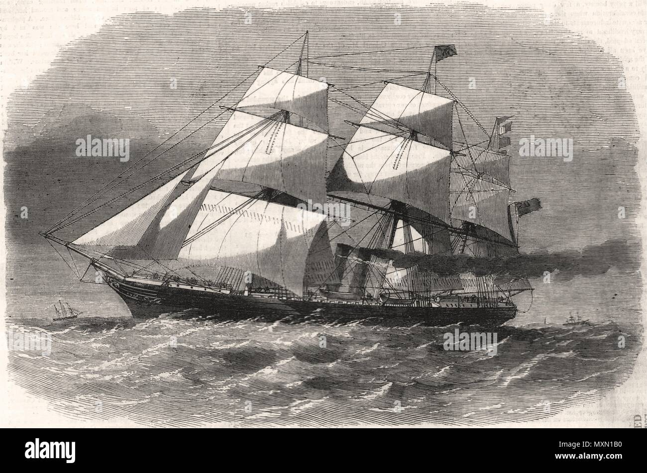 The screw steam-ship ' Australasian '. Ships 1857. The Illustrated London News - Stock Image
