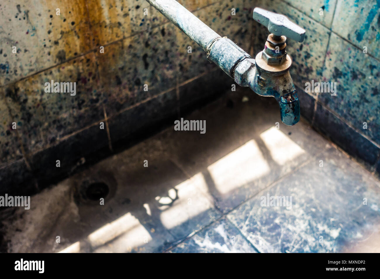Long-neglected Water Faucet - Stock Image