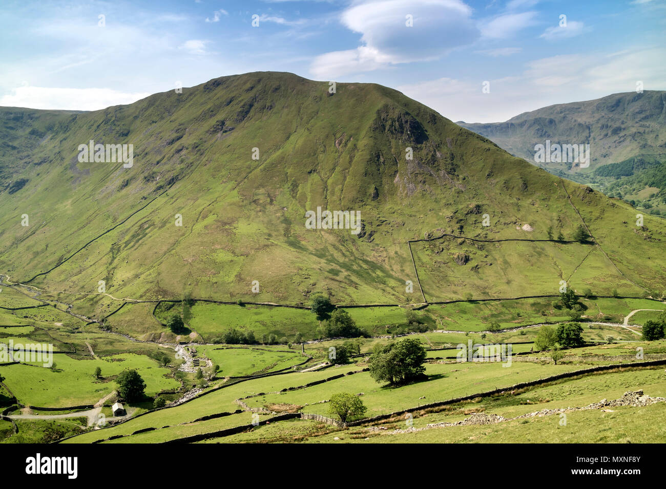 Hartsop Dodd from the Lower Slopes of Brock Crags, Lake District Cumbria, UK. - Stock Image