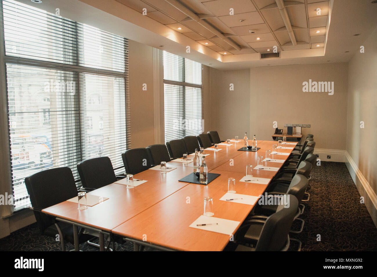 Fantastic Wide Angle Interior Shot Of A Business Board Room Empty And Download Free Architecture Designs Ferenbritishbridgeorg