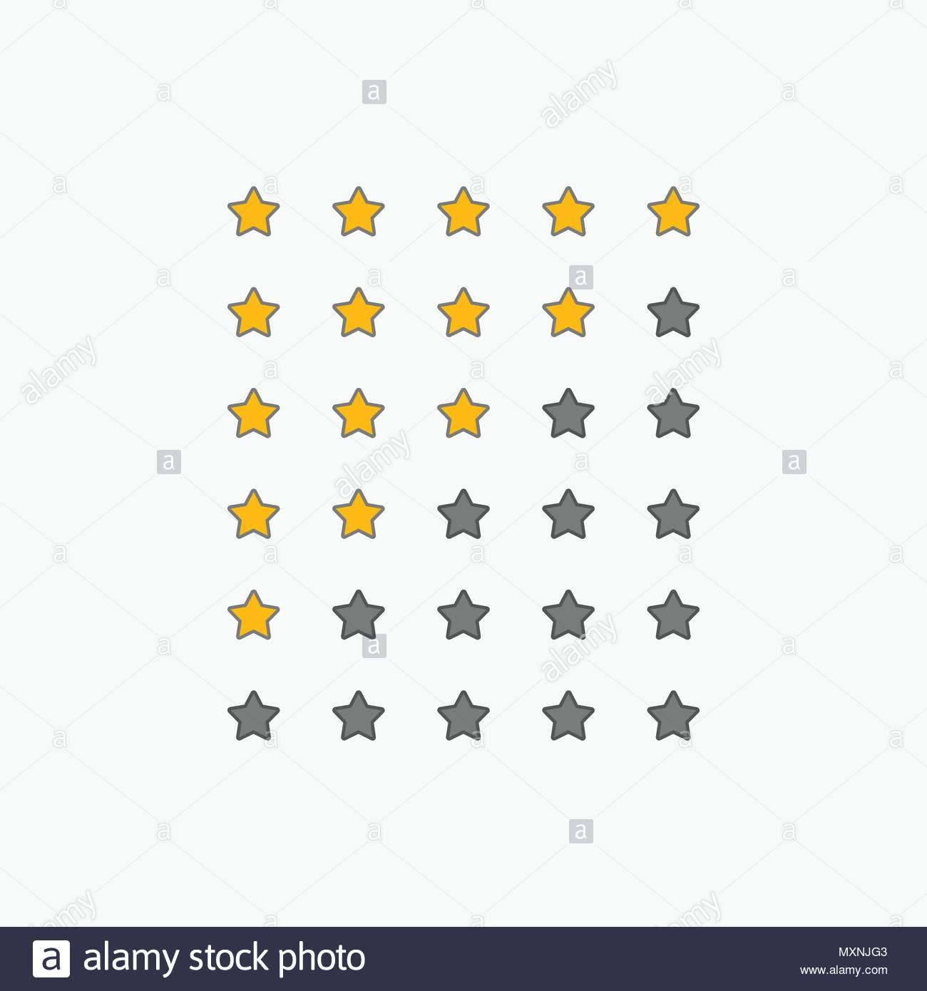 Set Of Star Rating Symbols Stock Vector Art Illustration Vector