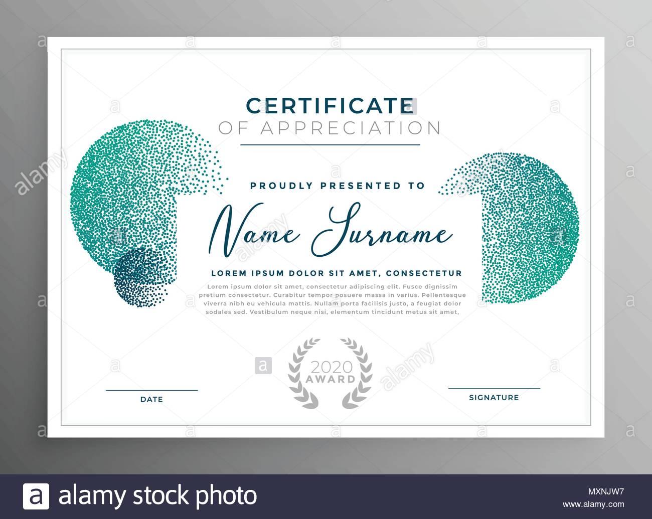 certificate appreciation creative template stock photos