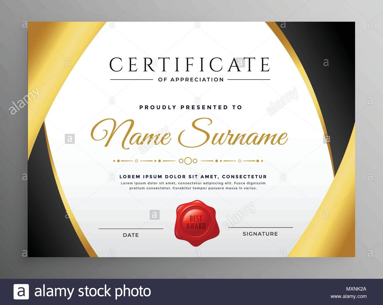 Premium Certificate Of Appreciation Template Stock Vector Art