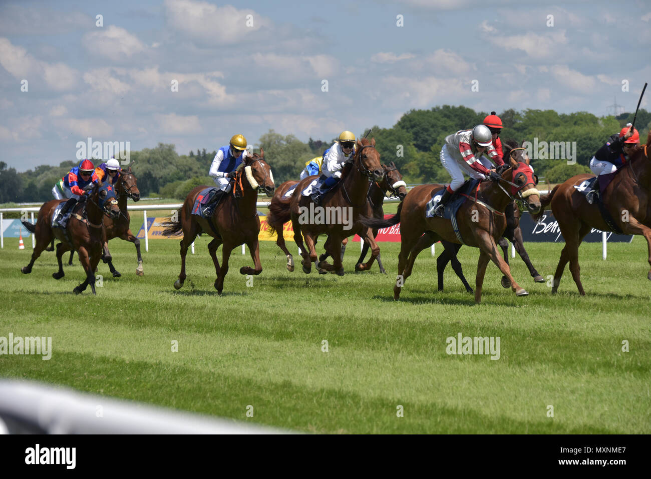 Horse Race Baden-Baden, 2nd June, 2018, Baden Racing of the Spring Event, race 3, award for young jockeys - Stock Image