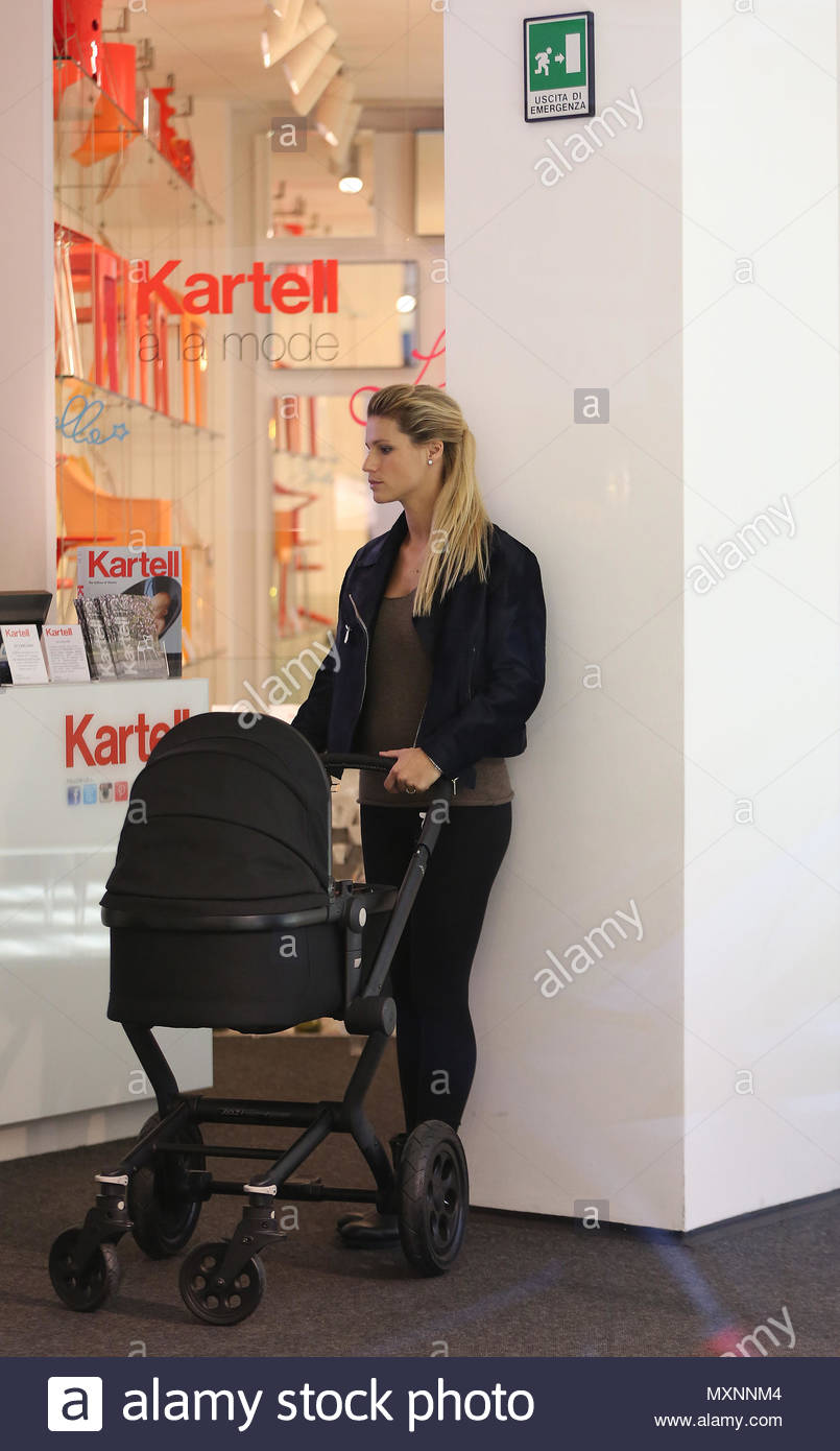 Michelle hunziker and tomaso trussardi at kartell store in milan new pictures