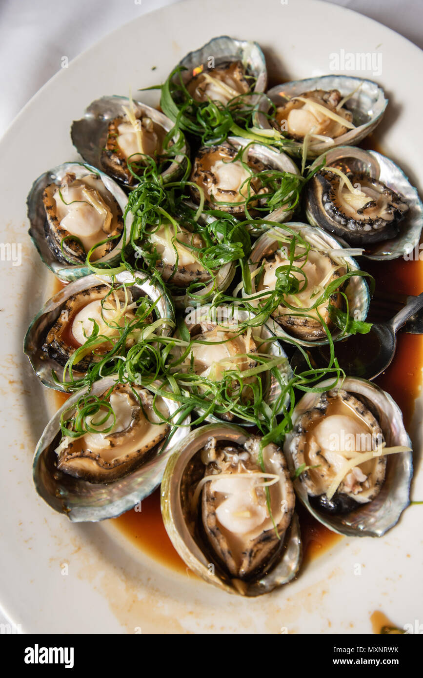 Steamed Abalone Dish At A Chinese Restaurant A Very Popular Dish At