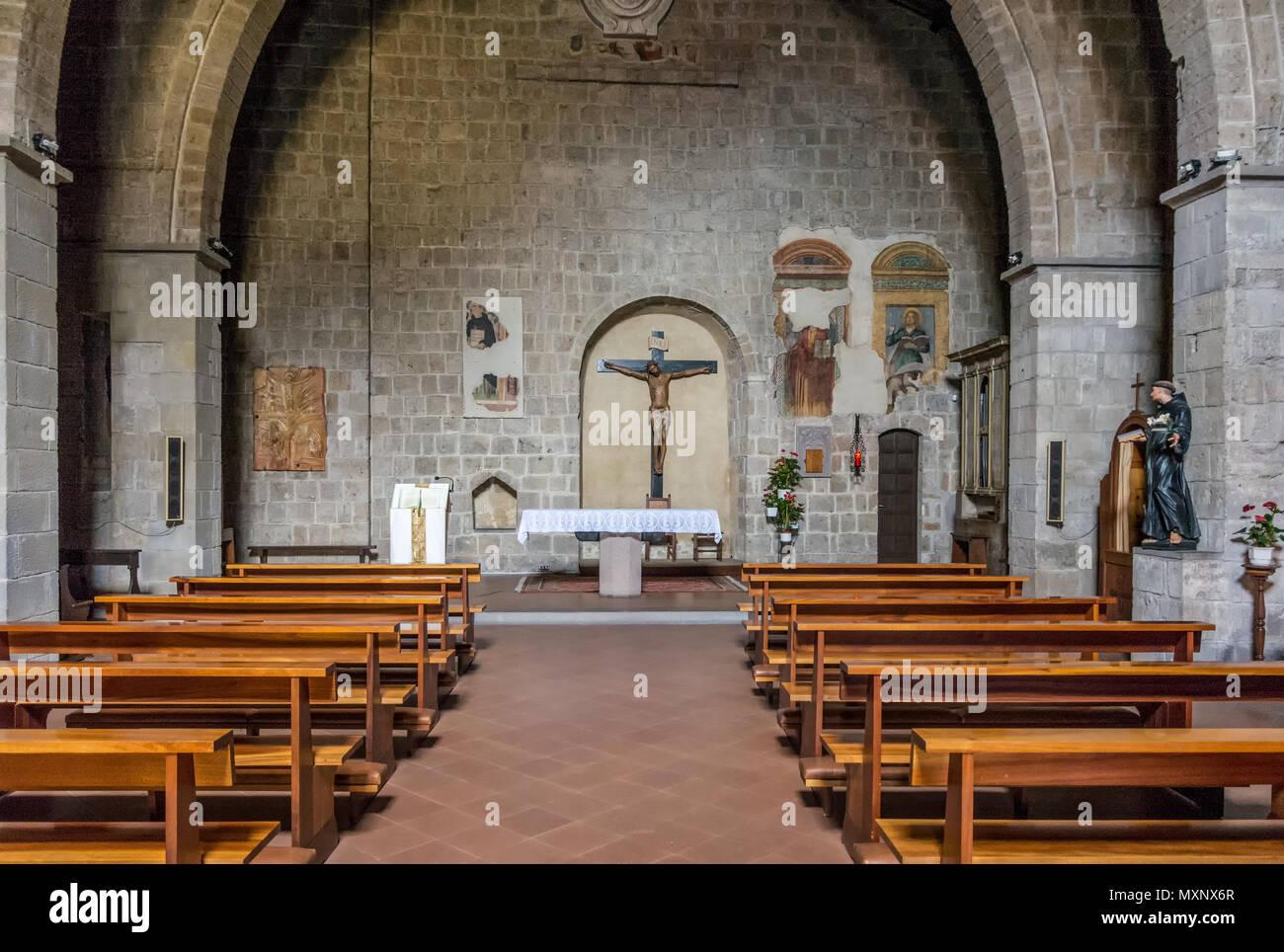 Tuscania (Viterbo), Italy - 2 may, 2018: Interior of San Marco ...