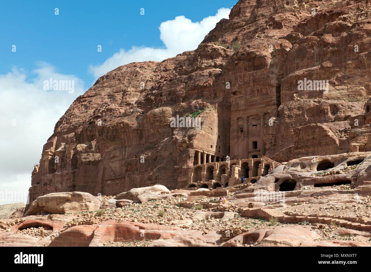 King's Wall, Petra Archaeological Park, Petra, Jordan, Asia Minor / Petra | Koenigswand, Archaeologischer Park Petra, Felsenstadt Petra, Jordanien, Stock Photo