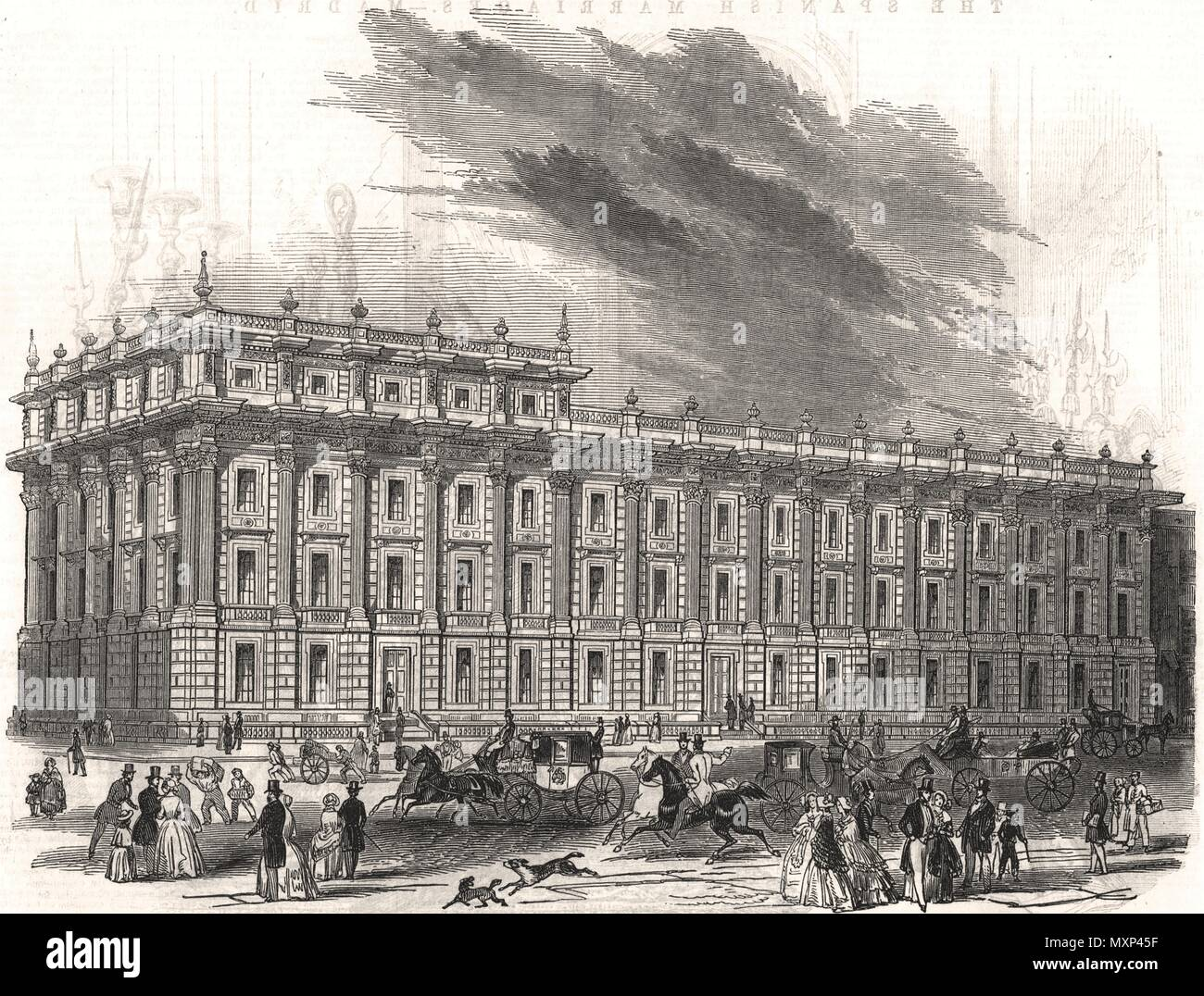 The new Privy Council office, Whitehall. Charles Barry. London 1846. The Illustrated London News - Stock Image