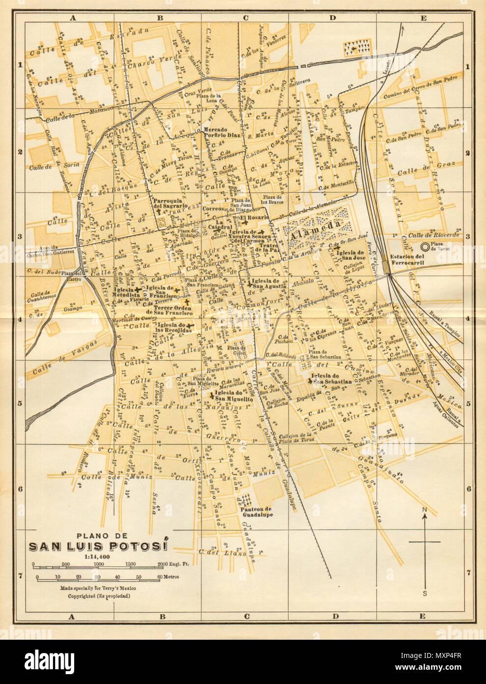 San Luis Potosi Mexico Map Stock Photos San Luis Potosi Mexico Map