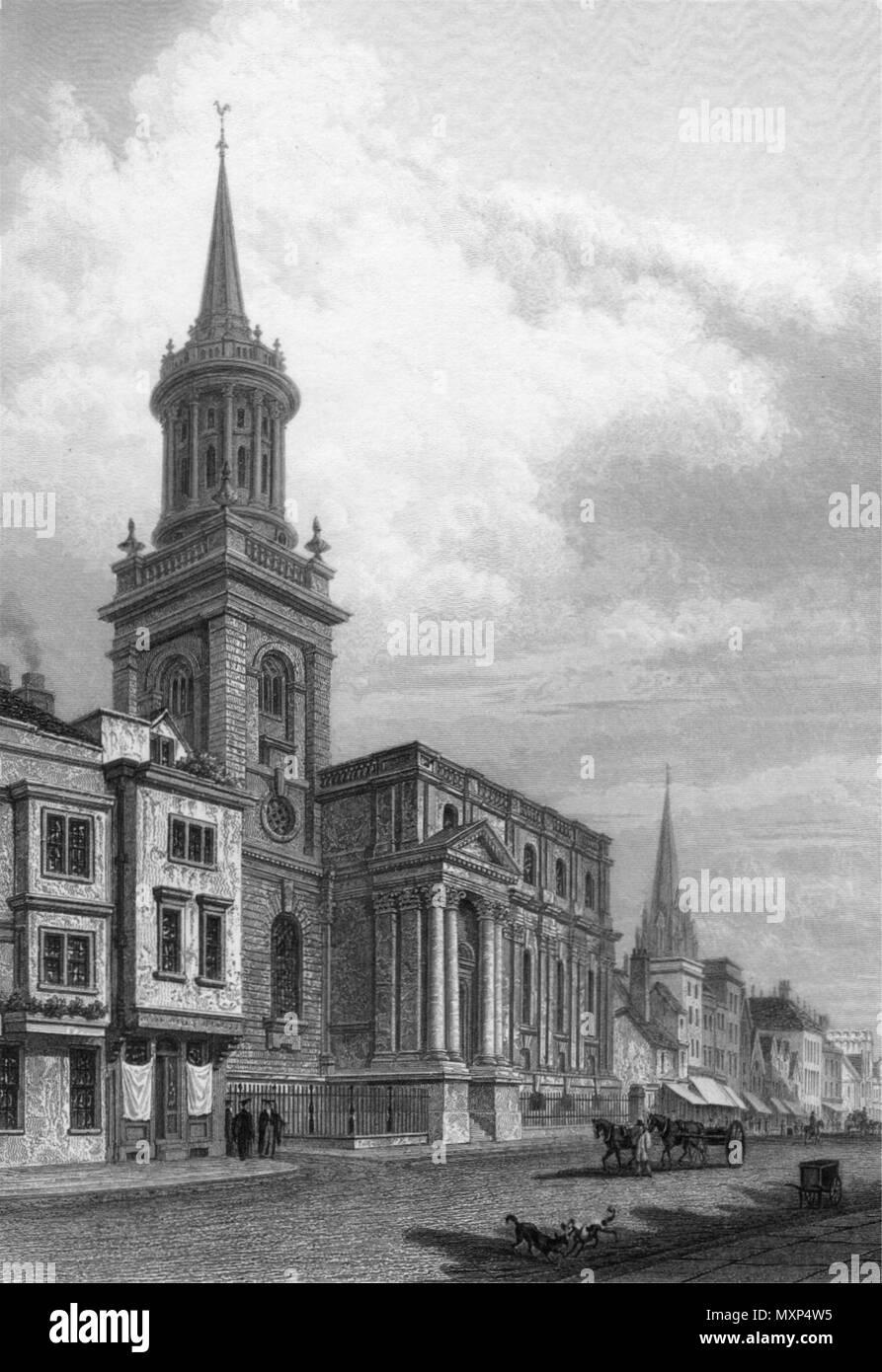 BADEN-BADEN All Saints English Church Antique Print 1868